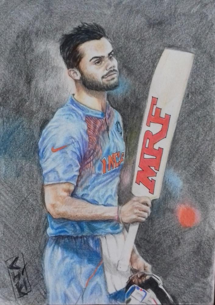 Portrait Of Virat Kohli By Chikki On Stars Portraits